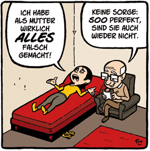 Cartoon Erziehung